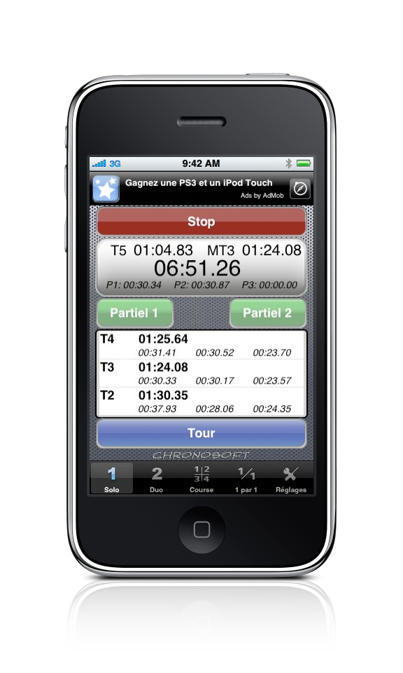 Chronosoft for Iphone